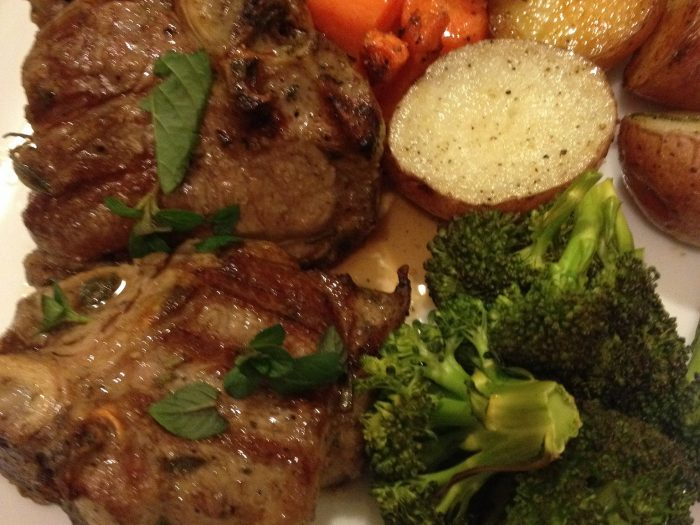 Lamb with green vegetables recipe