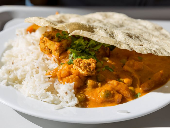 Chicken Tenderloins with Curry and Rice