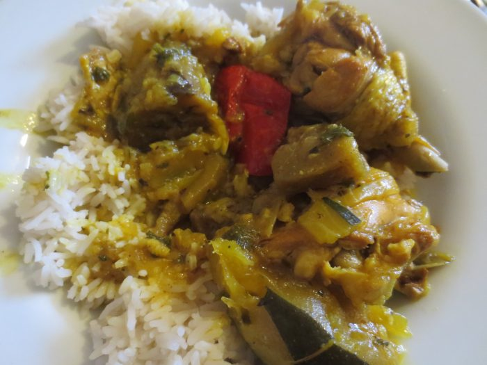 Chicken Colombo with West Indian flavor