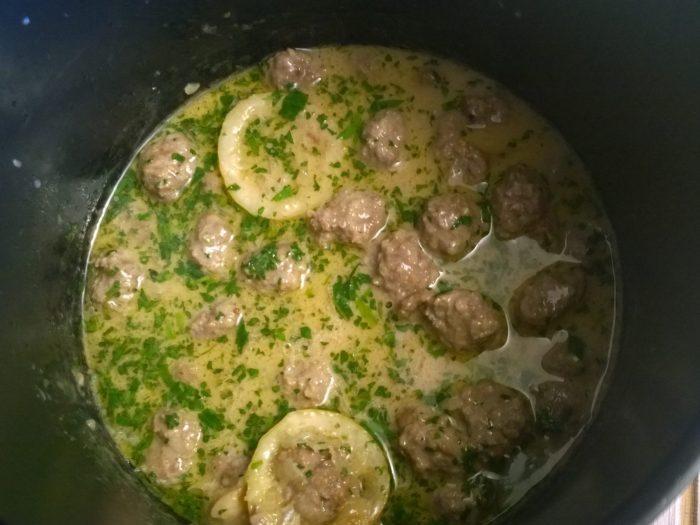 meatball and tarragon sauce