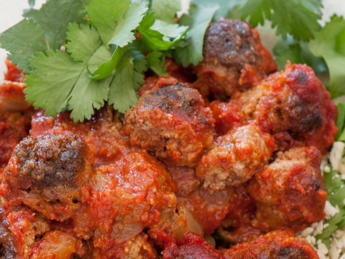Moroccan beef meatball