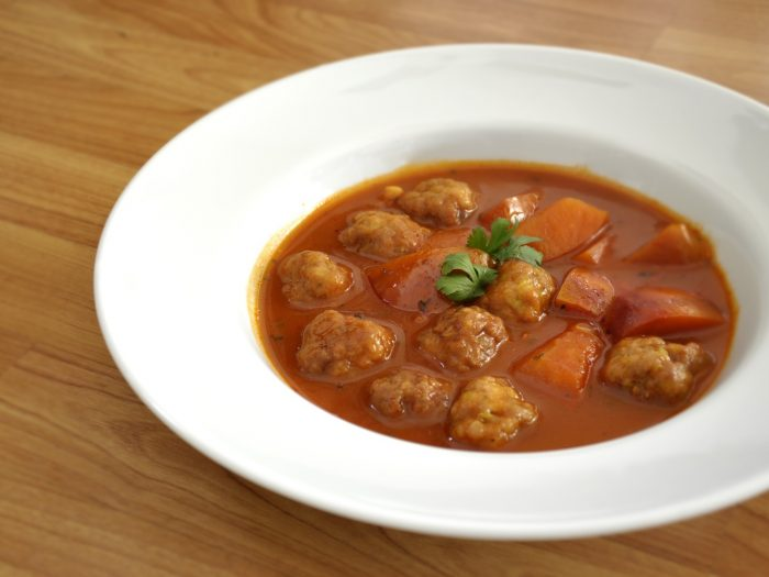 Meatball style stew