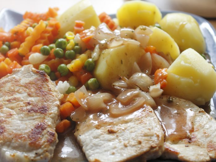 Veal stew carrots and potatoes