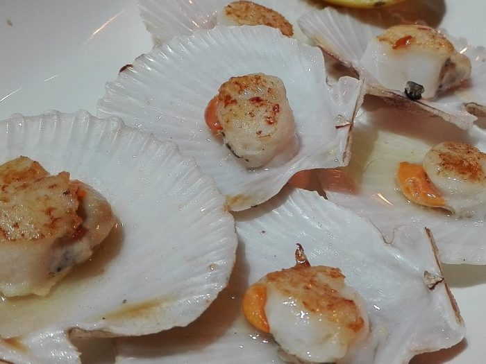 Scallops with Whisky