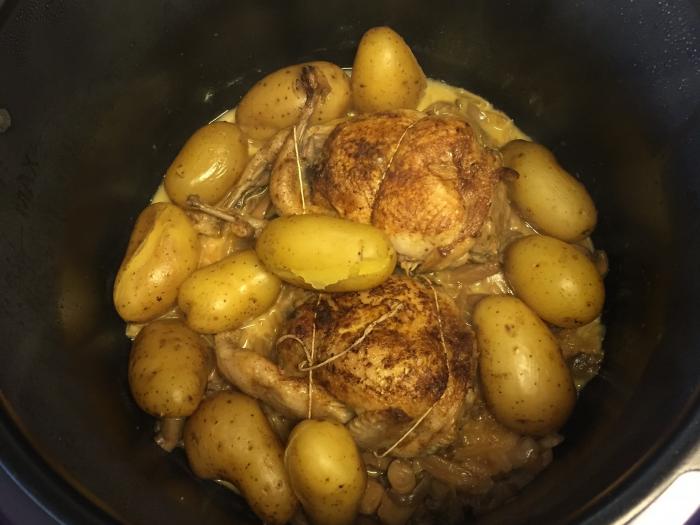 Quails and soft potatoes