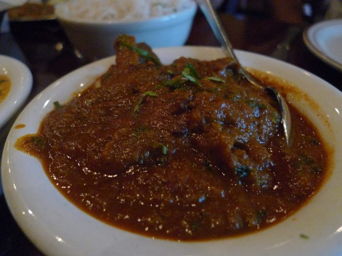 Goat meat curry