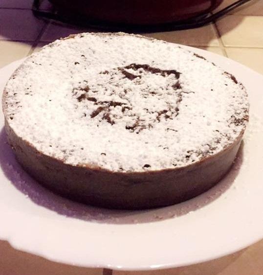 Chocolate fondant and mascarpone(soft creamy cheese)