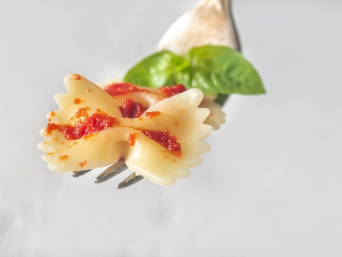 Butterfly pasta with a Italian sauce
