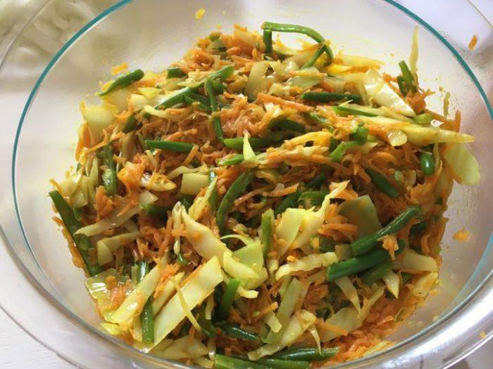 Vegetables Hachar (salty and spicy pickle vegetables)
