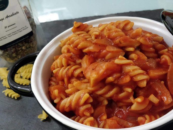 Pasta with simply Arrabiata spices