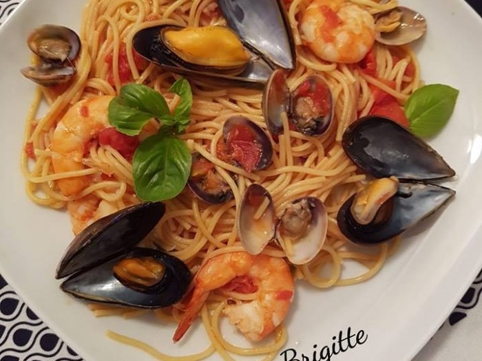 One pot pasta and seafood
