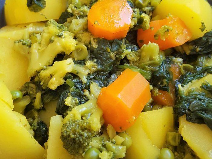 Potful of vegetarian vegetables from Angelique